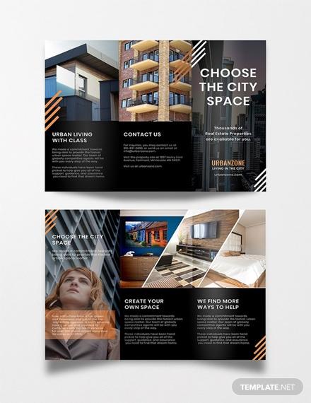 free urban real estate brochure template 1x