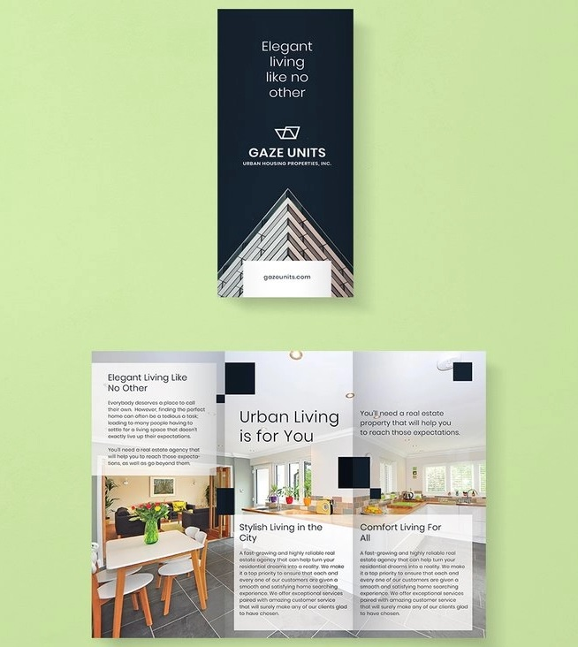 free real estate property brochure template1