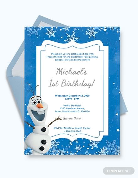 frozen birthday invitation1