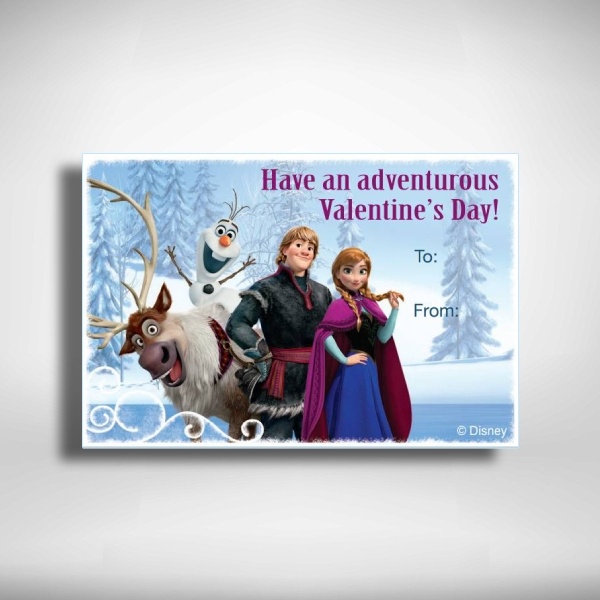 frozen inspired printable valentines greeting card