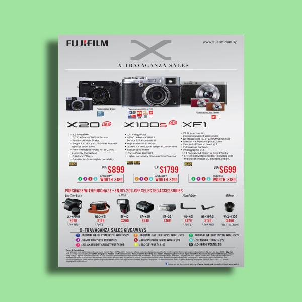 fujifilm x travaganza sales flyer