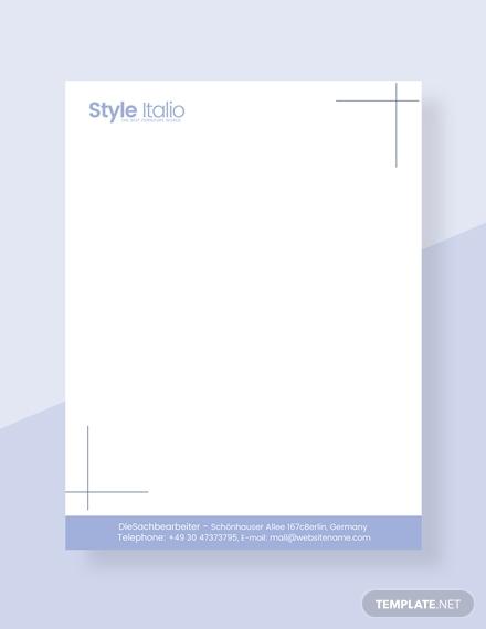furniture shop letterhead