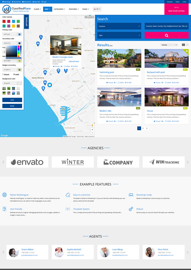 geo classified real estate ads template