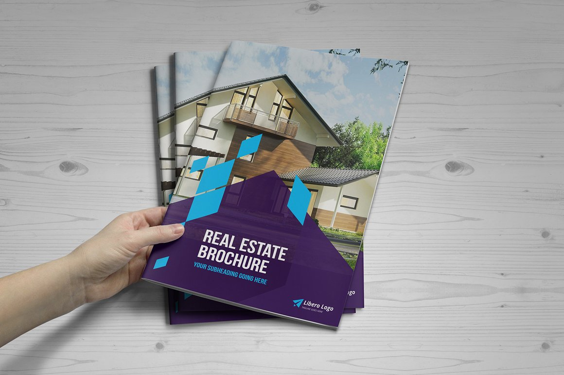 go green real estate property brochure template