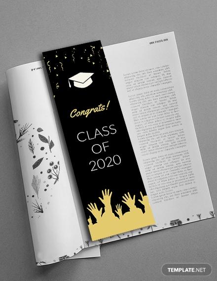 graduation bookmark template s 1