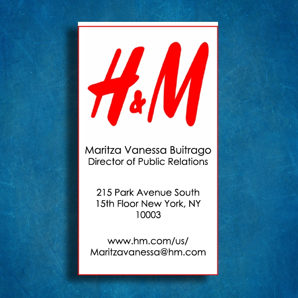 hm business card