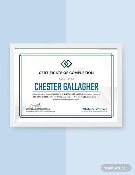 hvac experience certificate