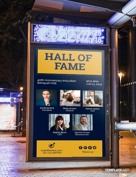 hall of fame digital signage