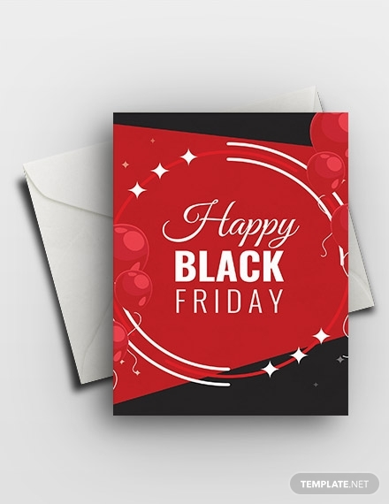 happy black friday greeting card