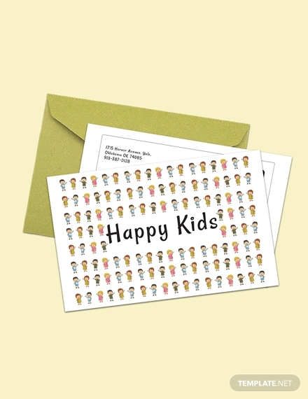 happy kids postcard