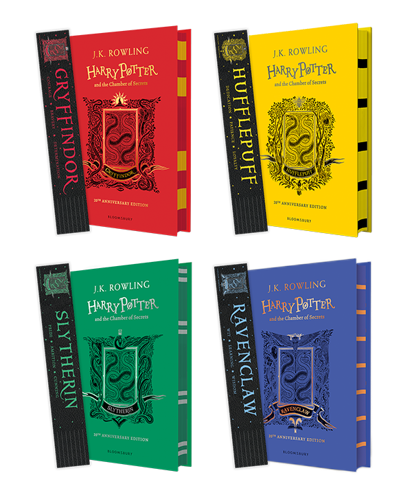 harry potter books with bookmarks