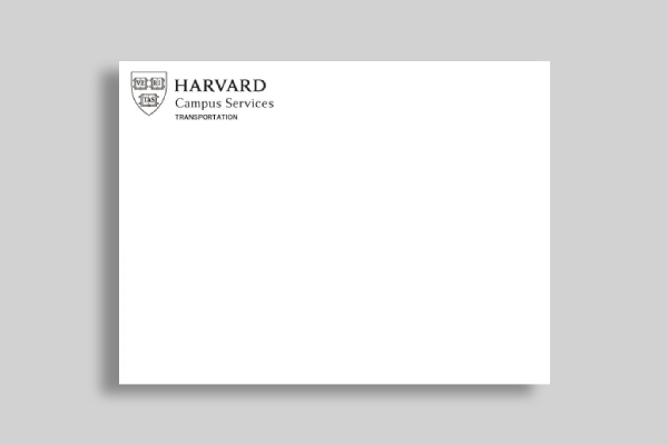 harvard campus services envelope