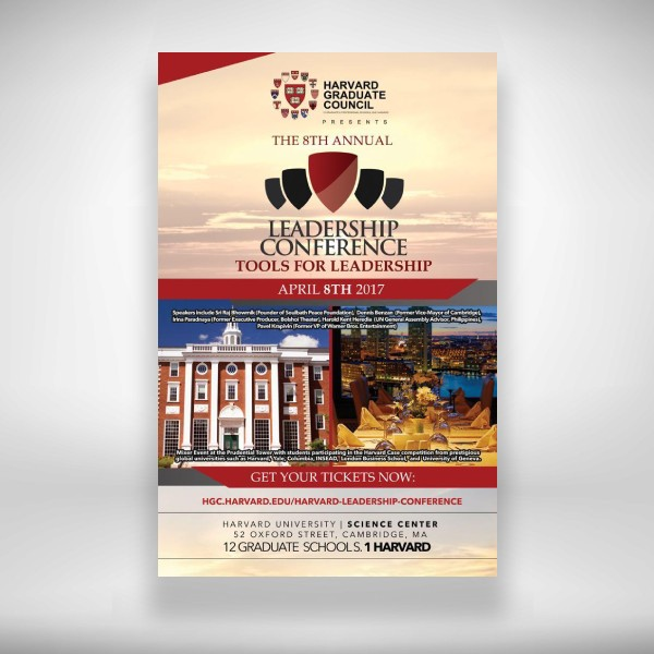harvard leadership conference flyer