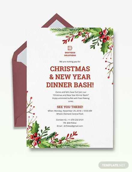 holiday dinner invitation1