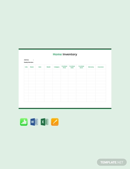 home inventory list