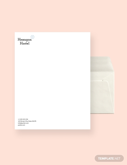 hostel envelope template1