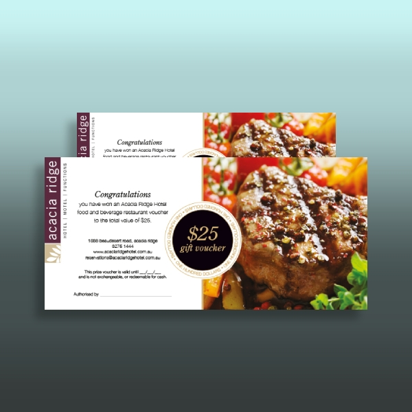 hotel food voucher