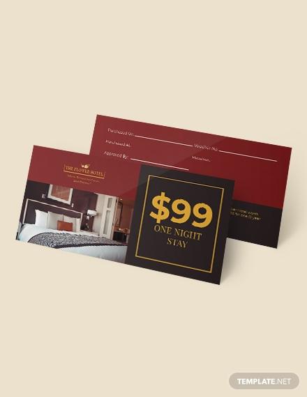 hotel gift voucher