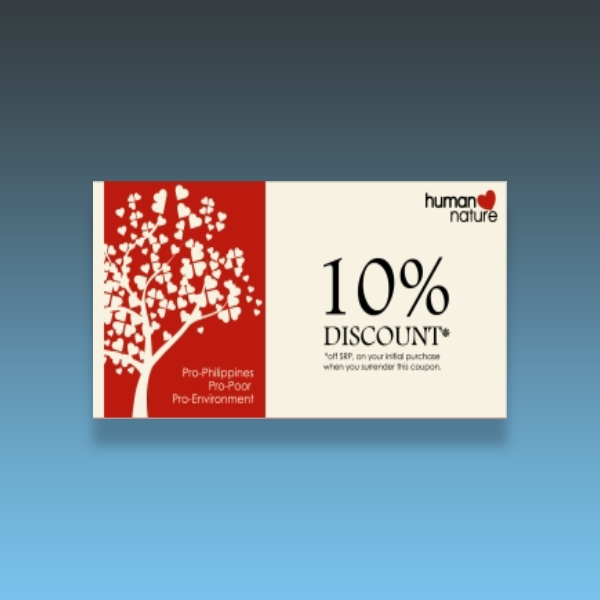 human nature discount voucher