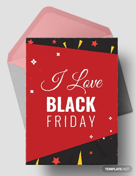 i love black friday greeting card