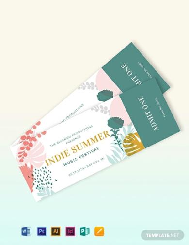 indie summer music event ticket