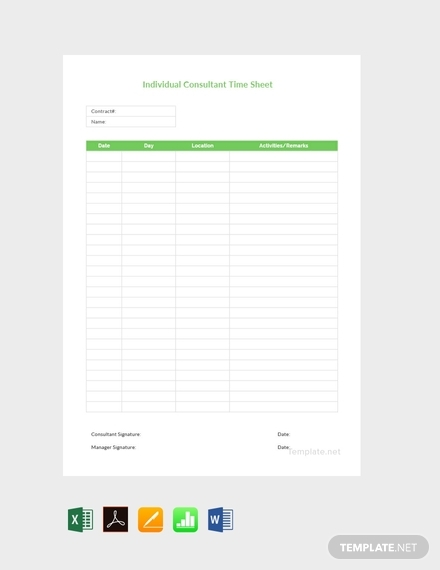 individual consultant timesheet