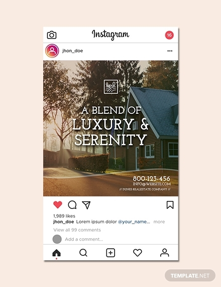 instagram real estate ads template