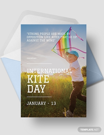 international kites day greeting card