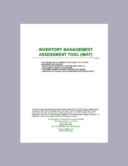 inventory management assessment tool
