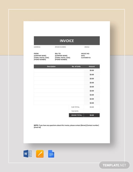 Free 34 Simple Invoice Examples In Google Docs Google Sheets Excel Doc Numbers Pages Pdf Examples