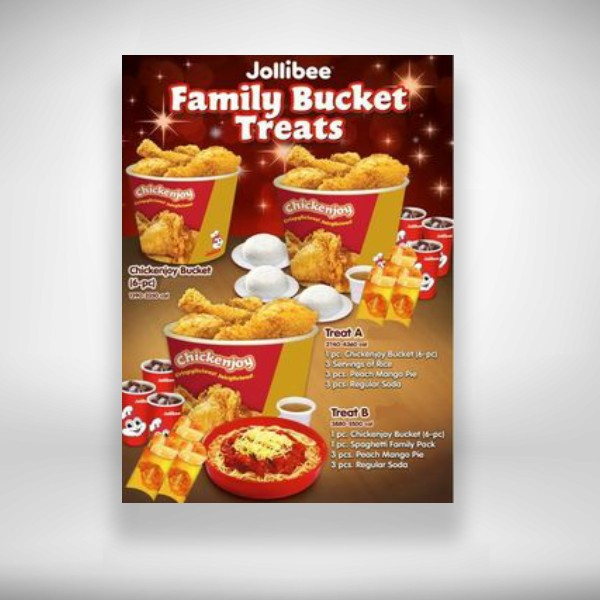 jollibee bucket meal flyer