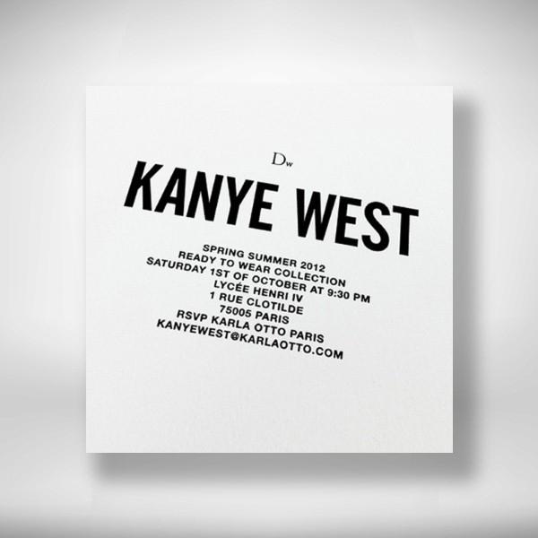 kanye wests show invitation