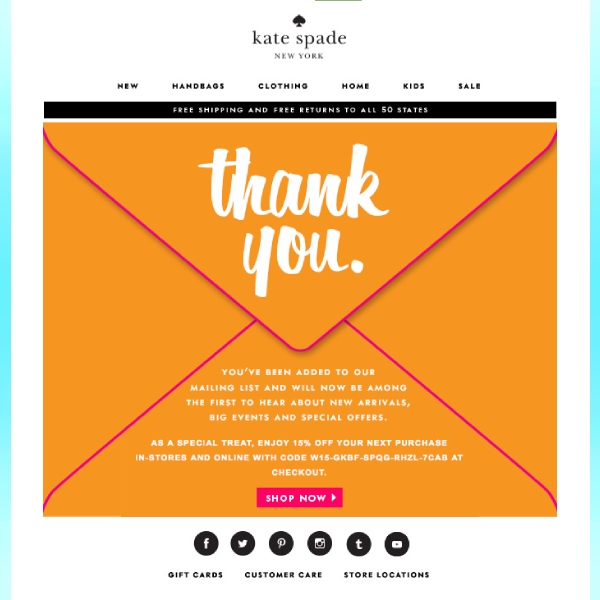 kate spade email newsetter