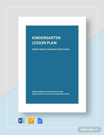 kindergarten lesson plan1