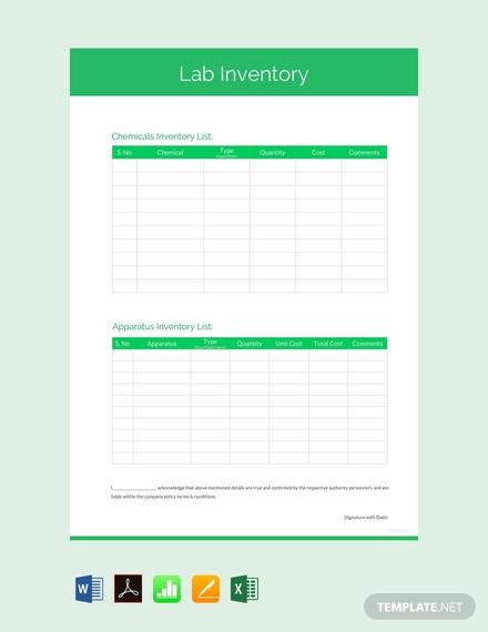 lab inventory list