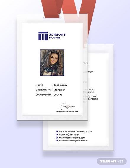 law firm identity card