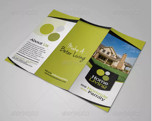 living real estate listing brochure template