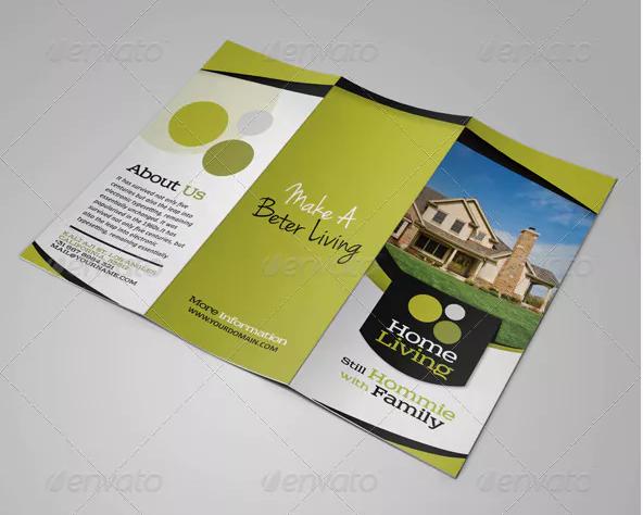 living real estate listing brochure template