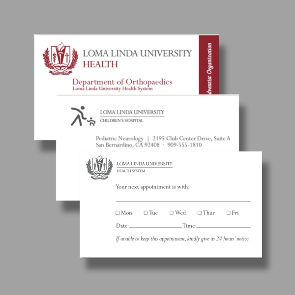 lomo linda university appointment card