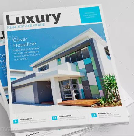 luxury real estate listing brochure template1