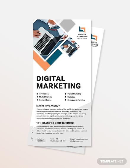marketing agency rack card