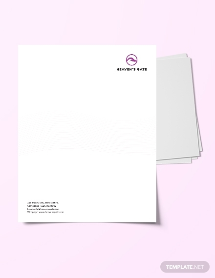 massage letterhead