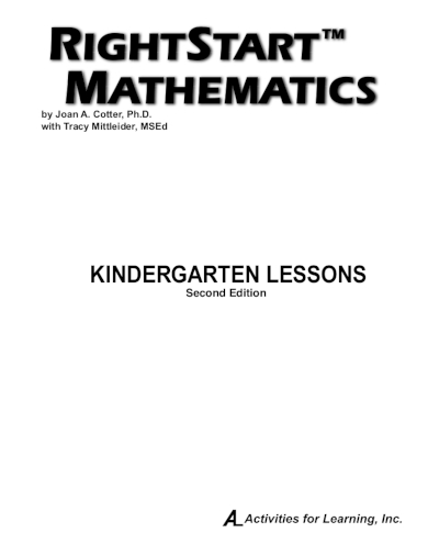 mathematics kindergarten lesson