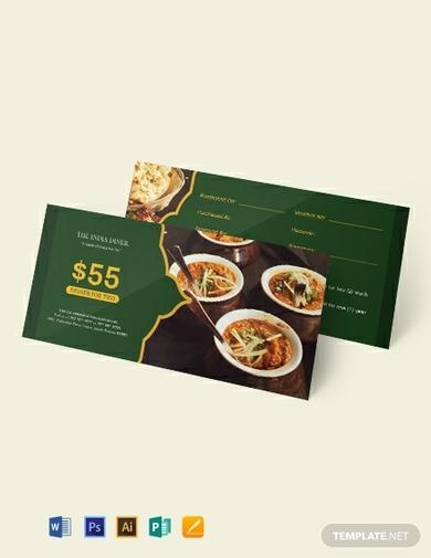 meal dinner voucher 1