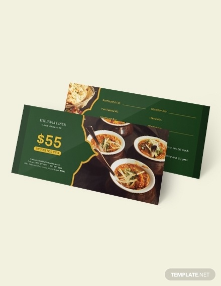 meal dinner voucher