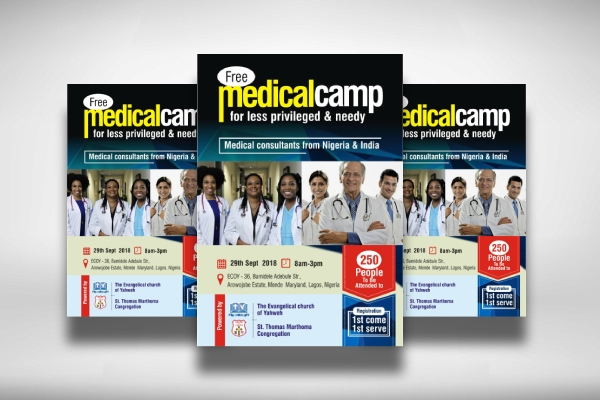 medical camp for the less privileged medical poster