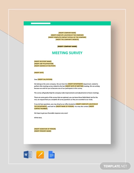 meeting survey template1