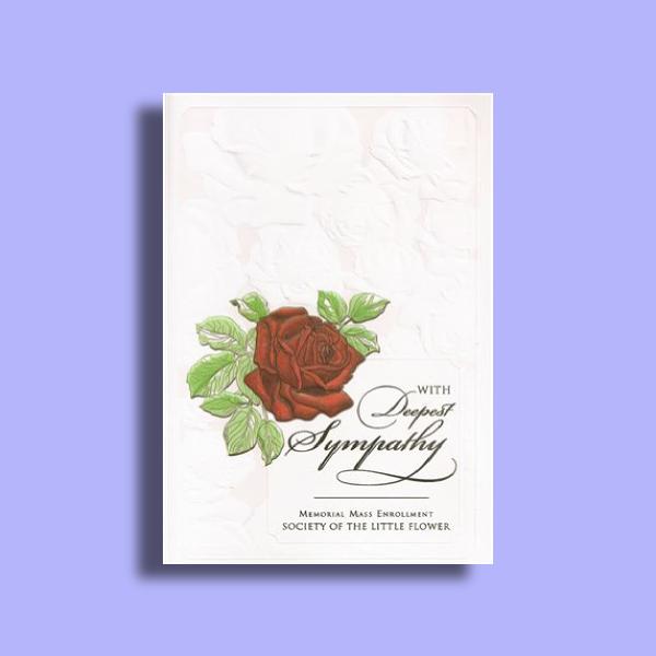 memorial mass card