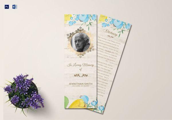 memorial service bookmark1