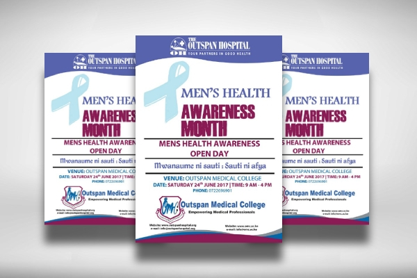 mens health awareness day medical poster